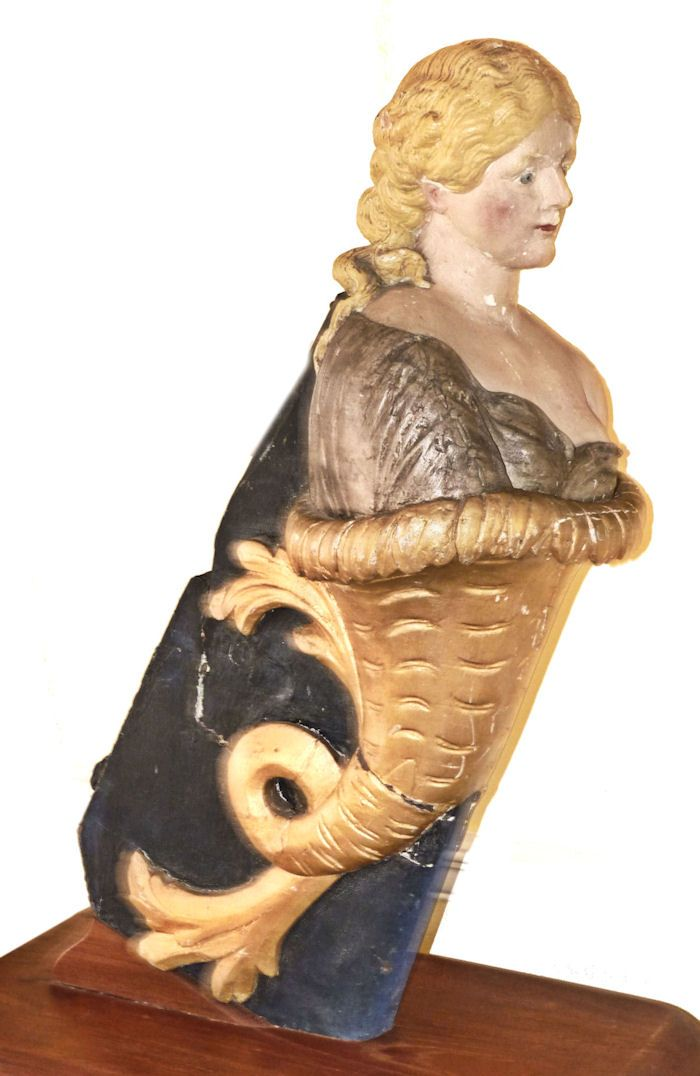 A real ship's figurehead image