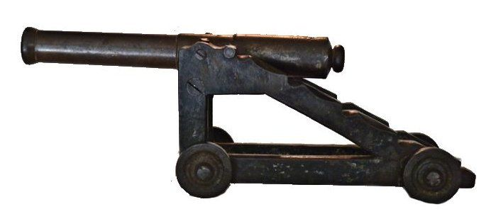 Naval signal cannon facing left image