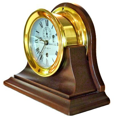 Navy WW I clock on optional stand    width=