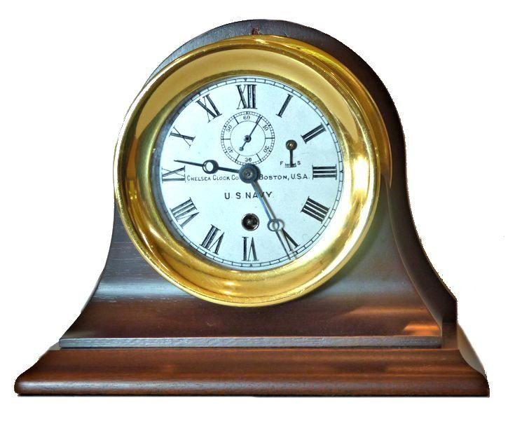 Chelsea WW I Navy clock on optional Chelsea stand image