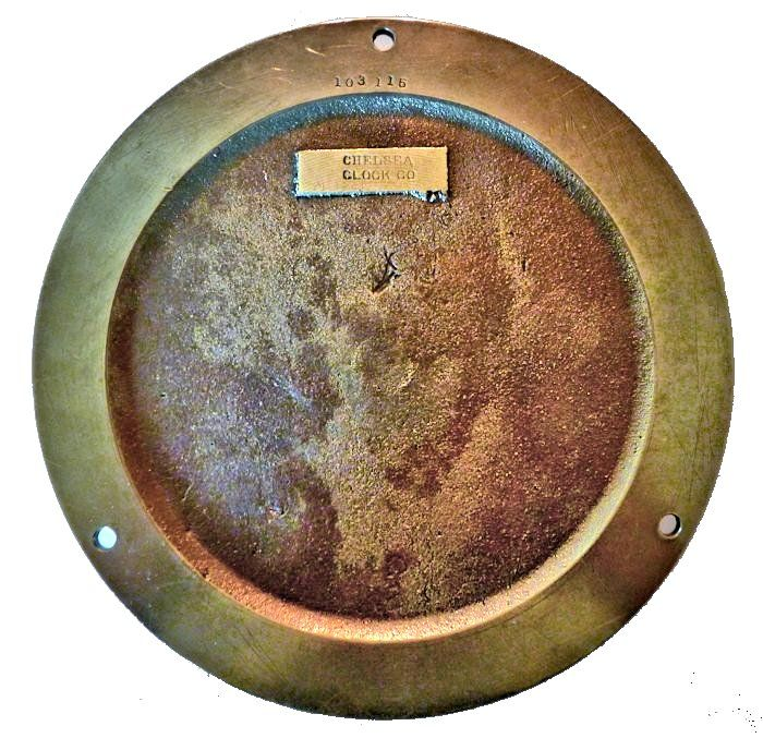 Back of clock showing serial number image