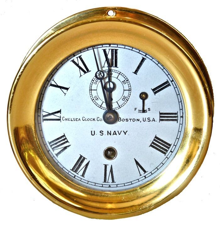 Chelsea                                     WW I Navy clock as being sold image