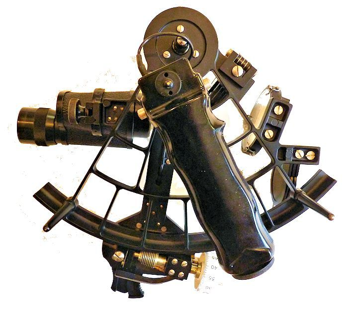 showing the back of the sextant image