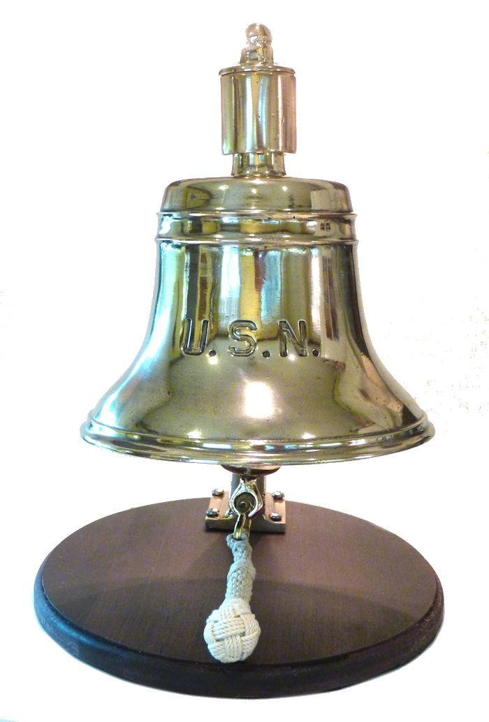 front view of early Navy foredeck bell image