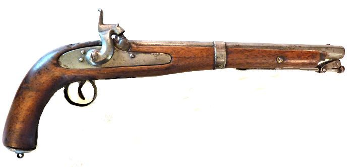 Obverse side of pistol image