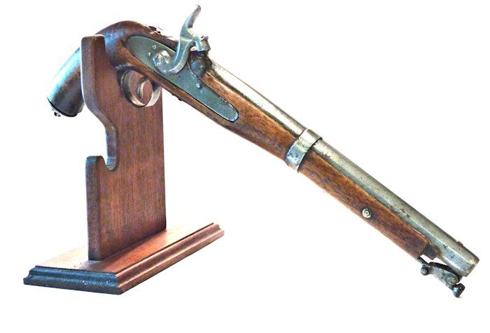 Pistol on stand which is NOT included image