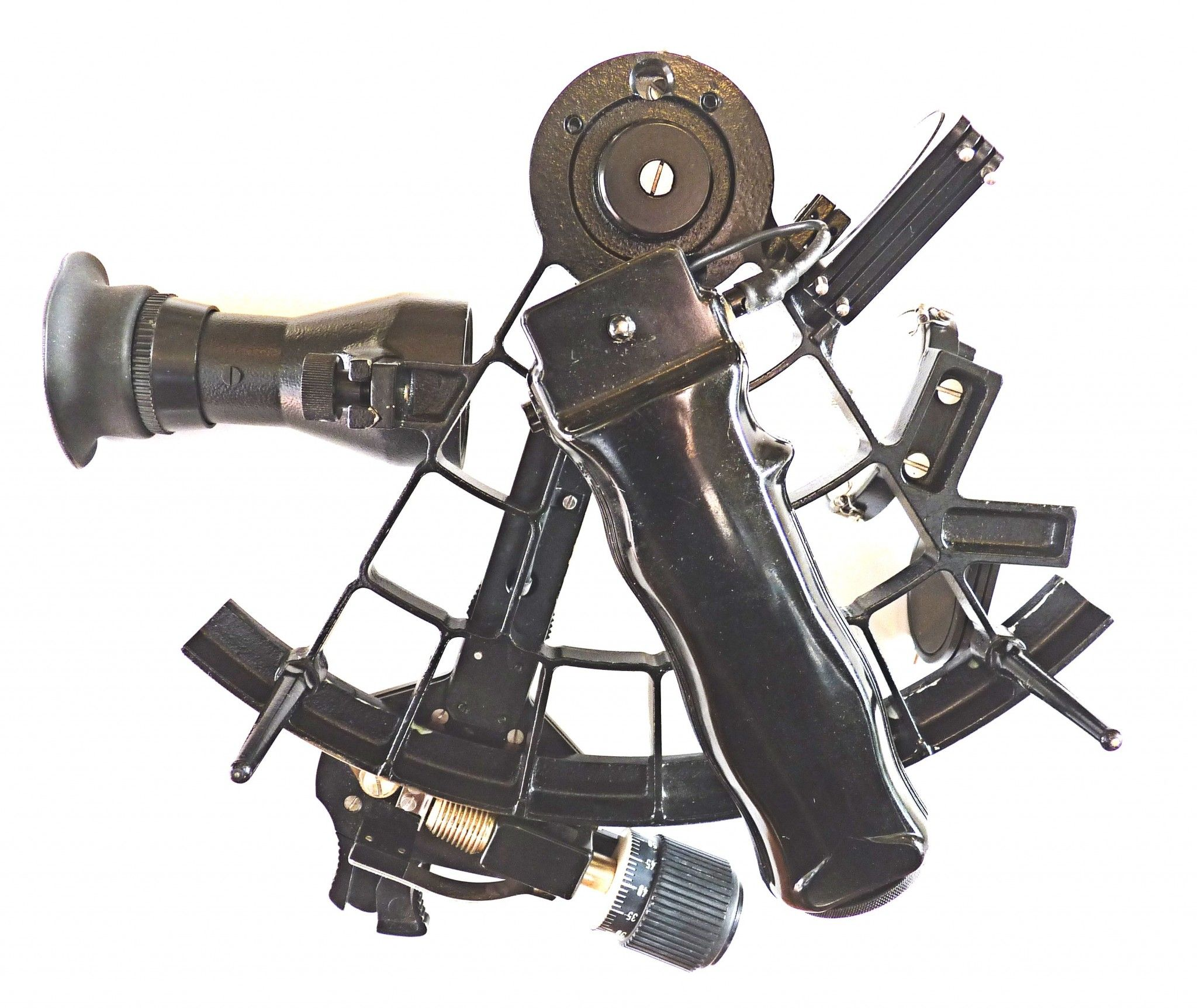 back of sextant with 4x40 scope mounted image