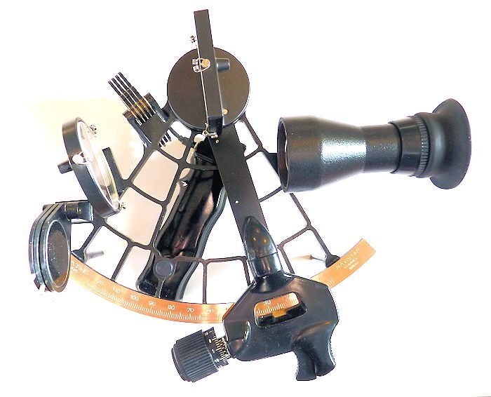 Plath sextant with 4 x 40 scope mounted image