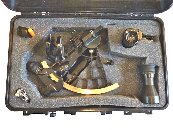 Open case with sextant and accessories image