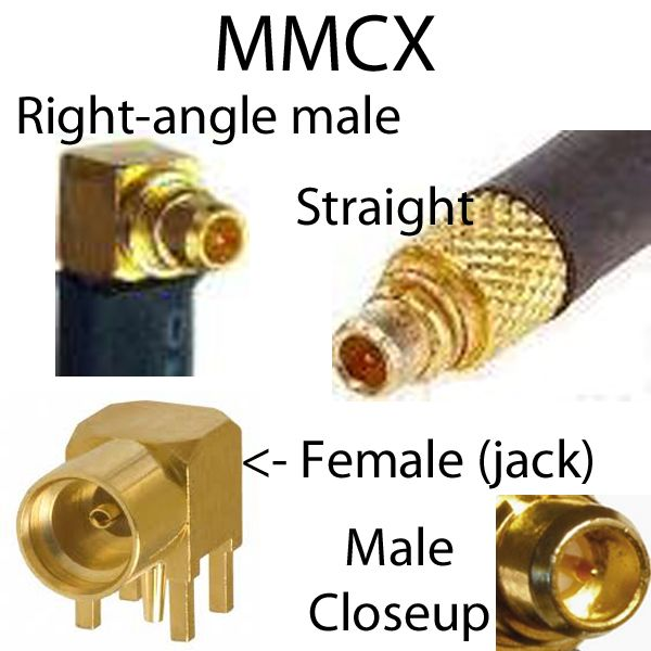 MMCX right angle connector coaxial cable assemblies