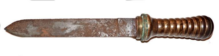 French dive knife reverse image