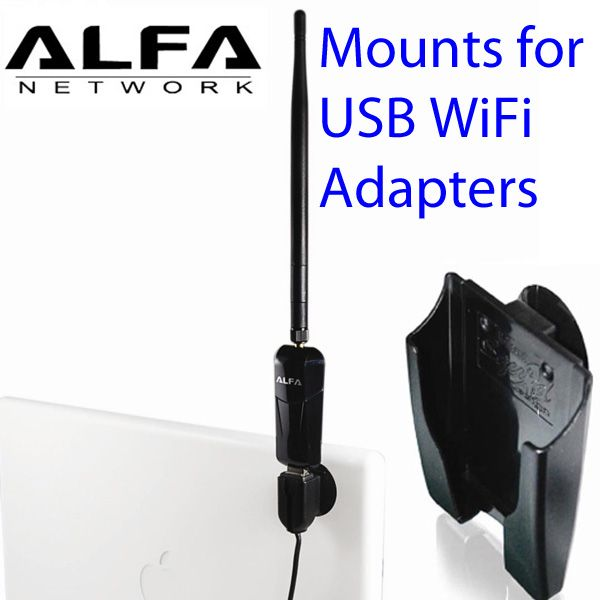 Mounts for WiFi USB adapters, for better signal and longer range