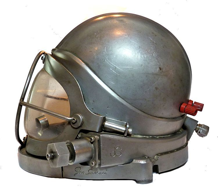 left side of Savoie stainless helmet image