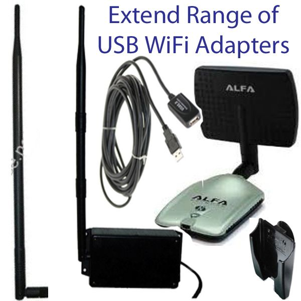 Extend Range of WiFi USB Adapters with antenna upgrades, mounts, outdoor enclosures