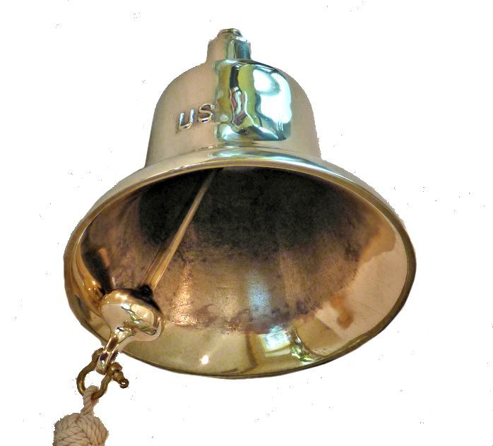 Inside of bell showing                                     clapper image
