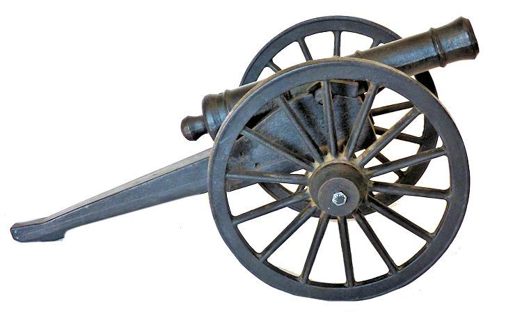Right side of 8 Pound Revolutionary cannon image