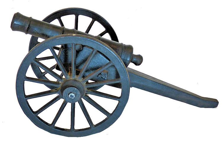 Left side of 8 Pound Revolutionary cannon image