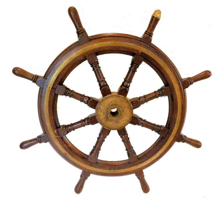 Back of ship's steering wheel image