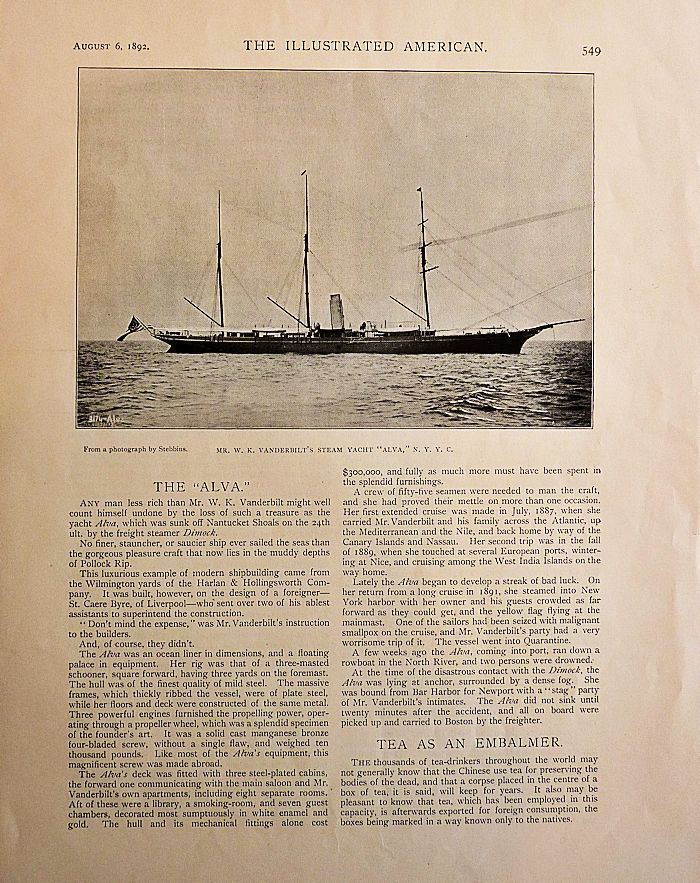 The Illustrated American Article of August 2, 1892 image