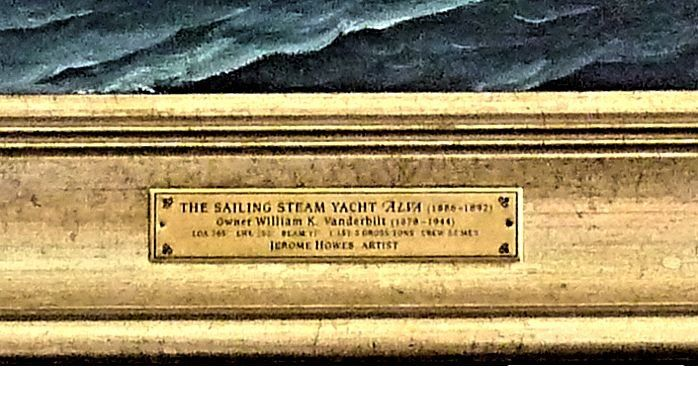 Details of the yacht ALVA name tag image