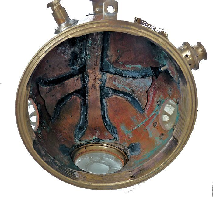 Inside of 12 bolt Chinese helmet image