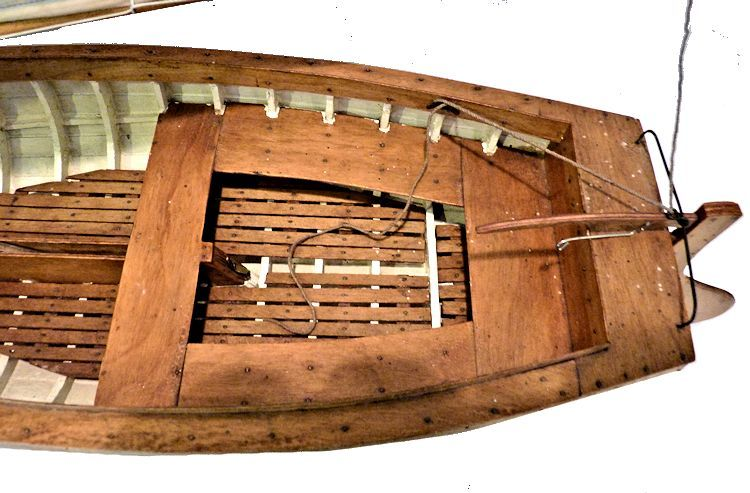 Cockpit of lapstrake dinghy model image