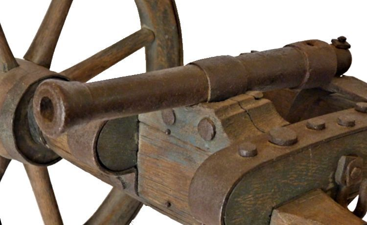 View of cannon barrel showing the bore