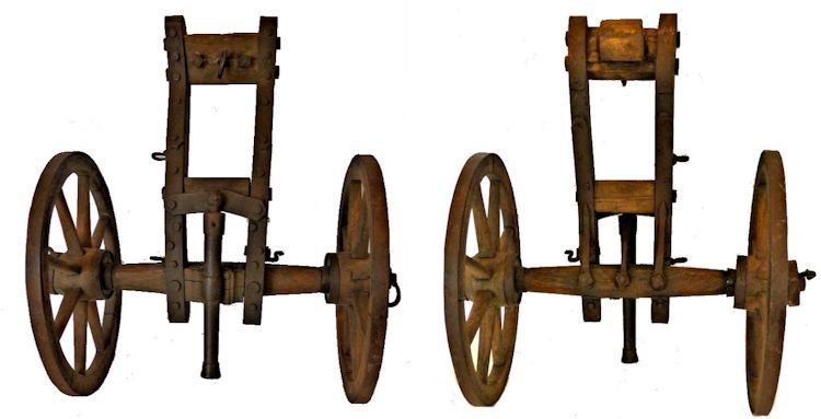 Showing the top and bottom of the carriage side by side image