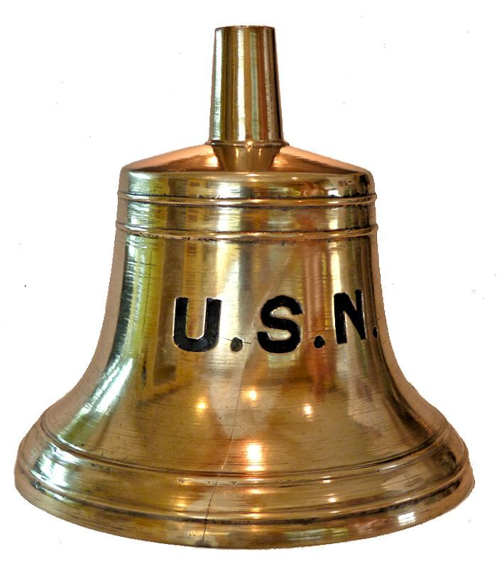Closeup of front of craked Navy bell                                     image