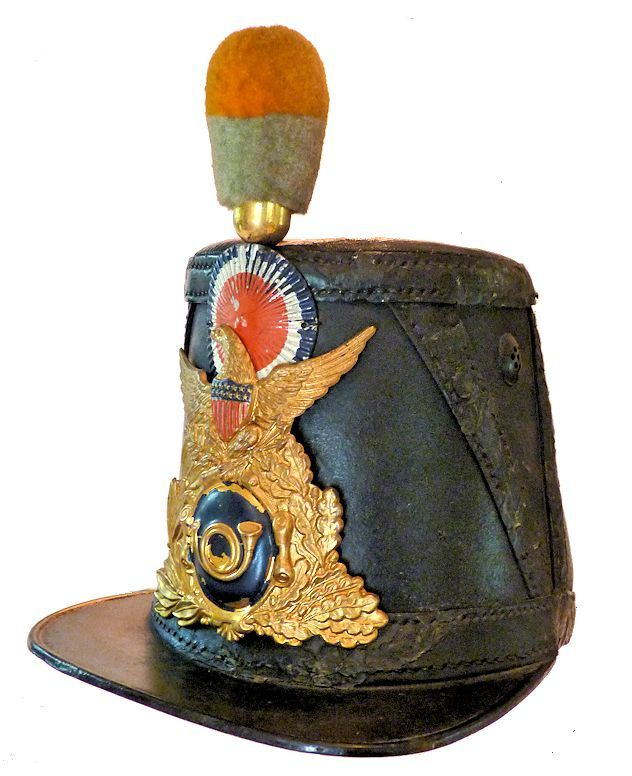 Front 3/4 view of shako