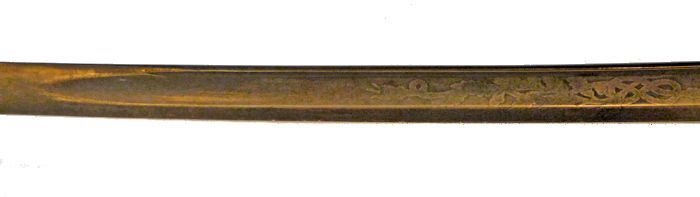 Ames M 1852 sword blade reverse detail of center section image
