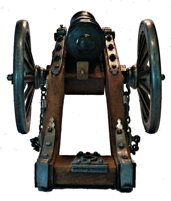 Rear of George I minature field cannon image