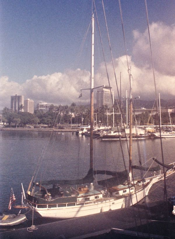 Schooner THALES moored along side in Hawaii image