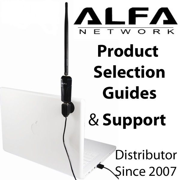 Alfa USB adapters and upgrades to extend range; tech support