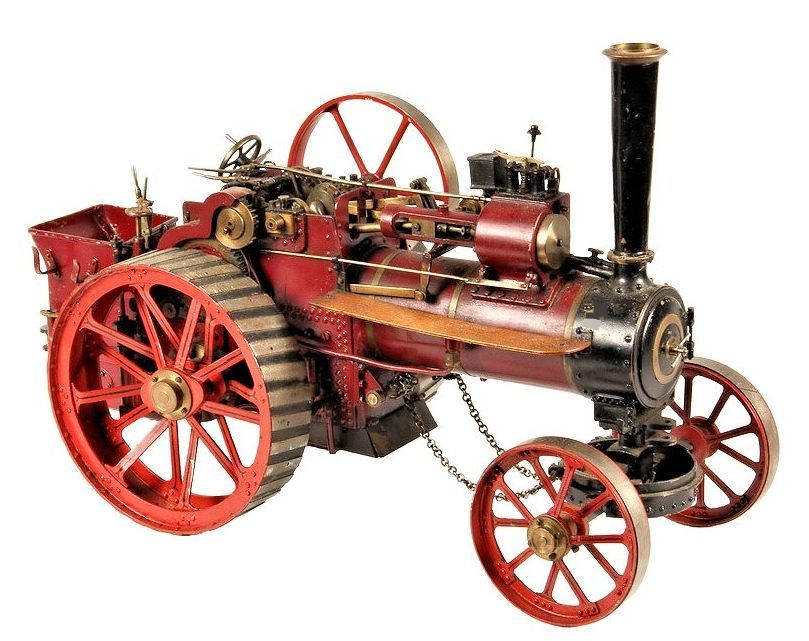 precision model of a steam tractor image