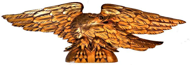 35 inch Natucket style Artistic Co. carved agle image