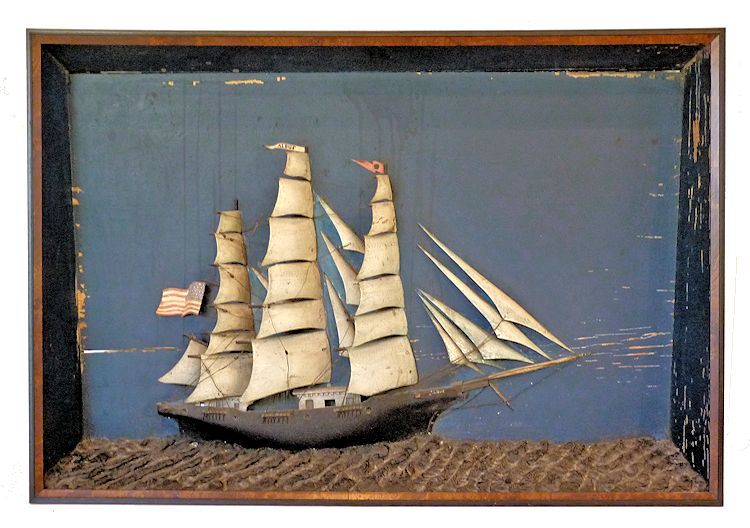 Diorama of Sailing Ship ALBUS Michael Geregory Captain image