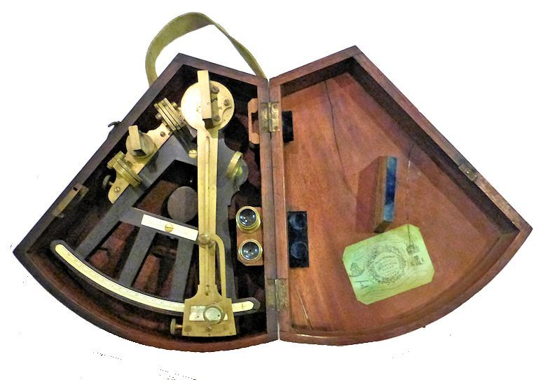 Stalker sextant in open case image