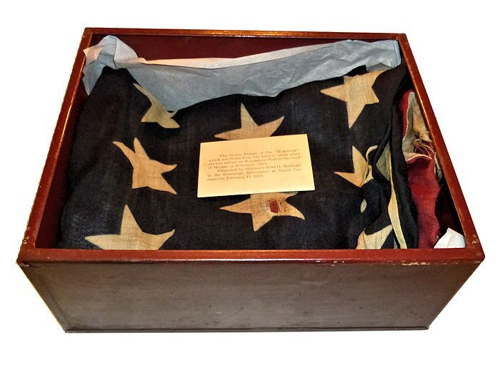 Flag case with top removed image
