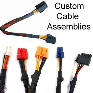 Molex Power Cable Assemblies:  Wire harness, Siamese Cables