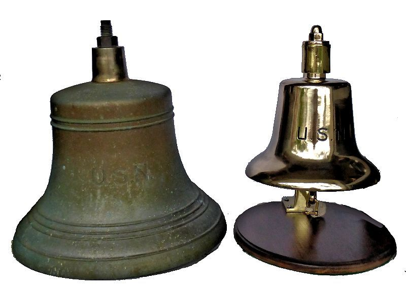 This bell compared to the more common foredeck anchor bell image