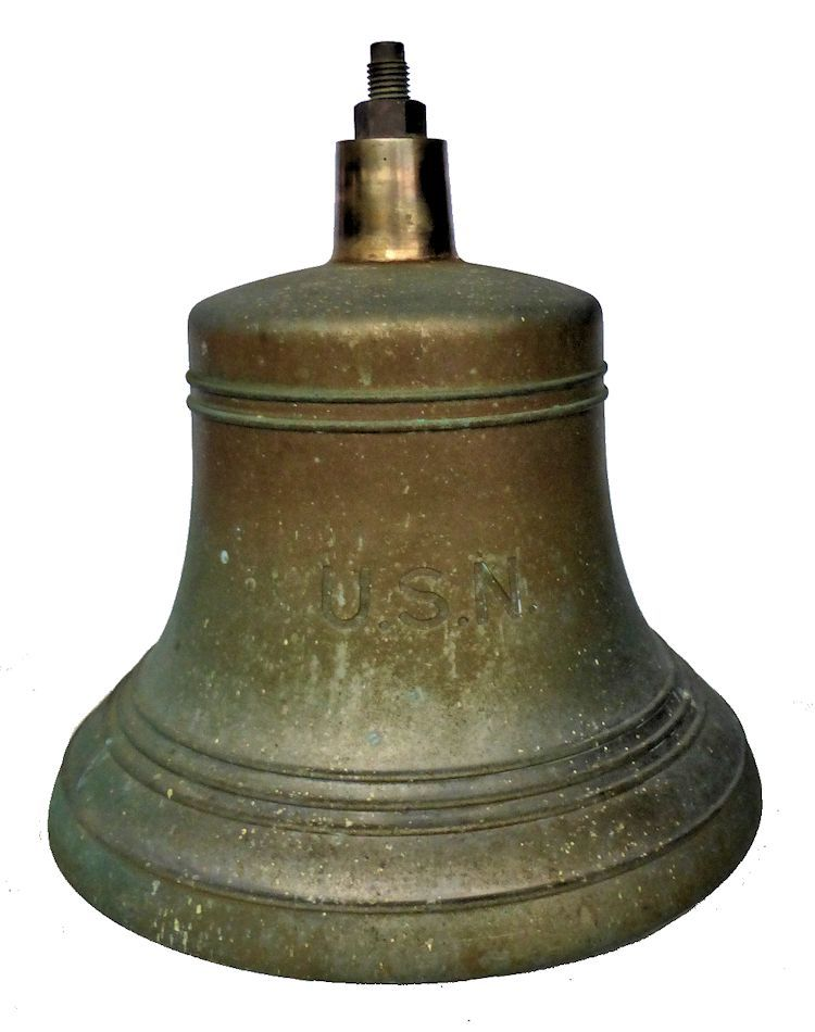 Large USN destroyer size WW II bell image