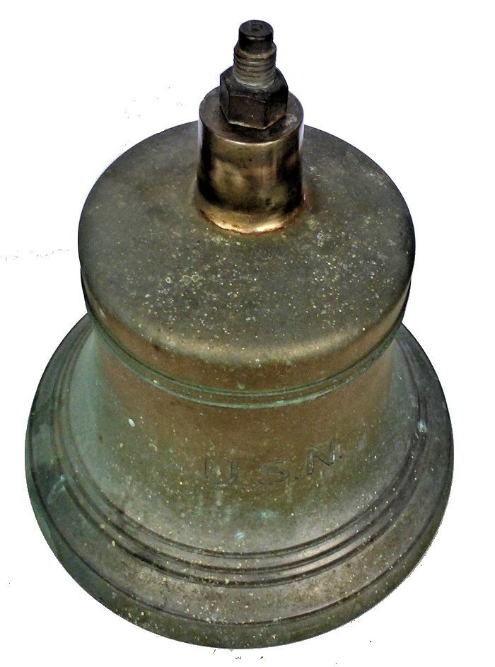 Looking down on the back of the large Navy bell image