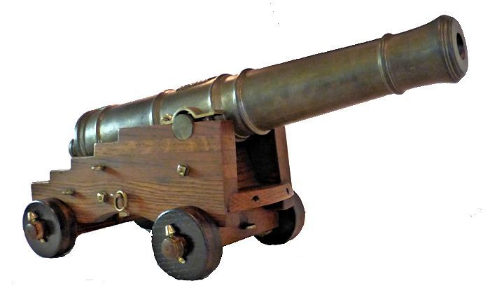Cannon viewed from the right front image