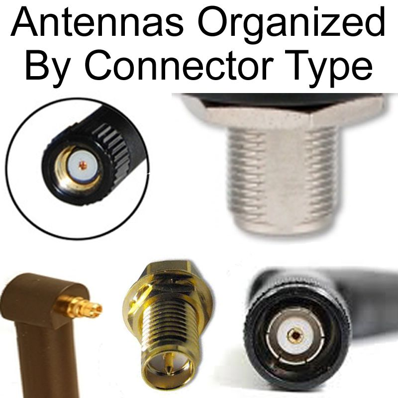 Antennas organized by connector type