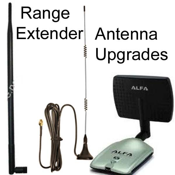 Signal booster antenna upgrades for WiFi USB adapters