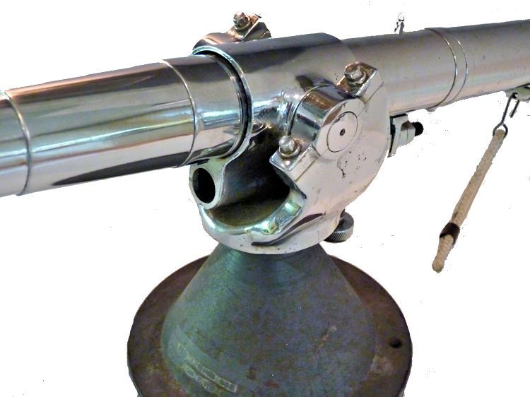 Open breech of deck cannon image
