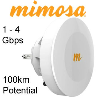 Mimosa Gigabit wireless point to point link