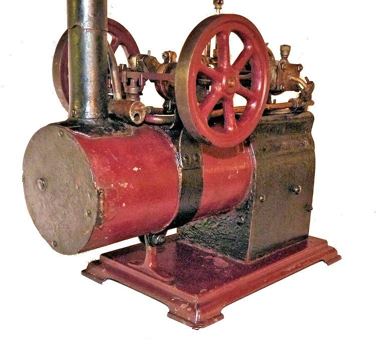 Front view of tall stack steam engine image