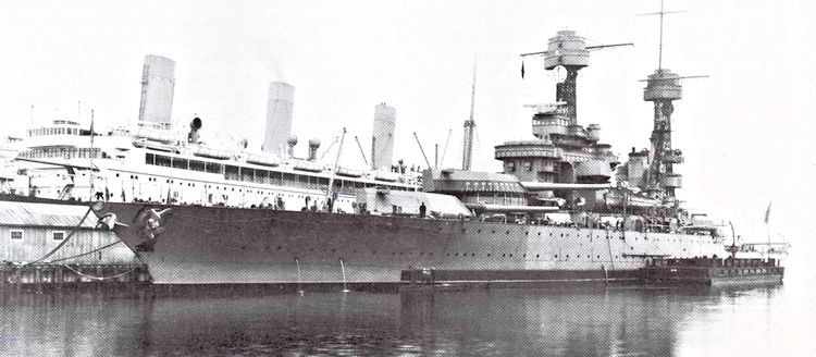The USS Tennessee BB-43 after she had been modified and upgraded Ca                                     1942 image